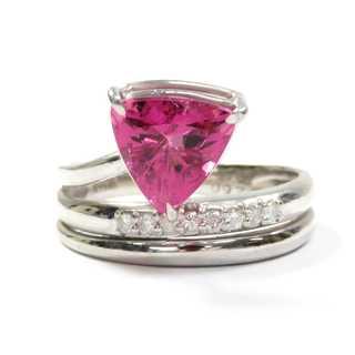 トルマリン♪2.6Ct♪Pt900/プラチナ♪ダイヤモンドデザインリング★指輪(リング(指輪))