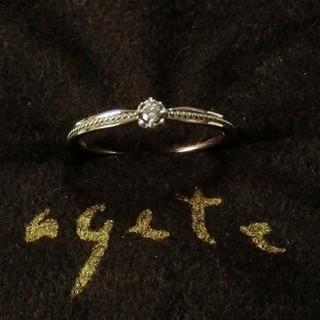 アガット(agete)のアガット 0.03ctダイヤモンドのK10リング 11号(リング(指輪))