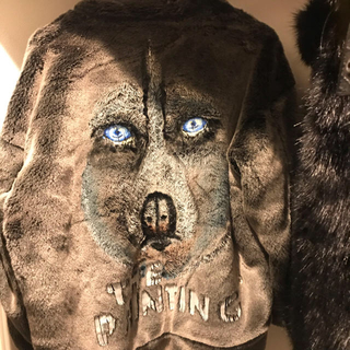 バレンシアガ(Balenciaga)のdoublet ファージャケット ハンドペイント M(毛皮/ファーコート)