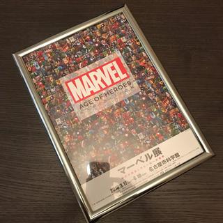マーベル(MARVEL)の【シルバー】マーベル展 MARVEL ポスター A4サイズ 額縁付き①(ポスター)