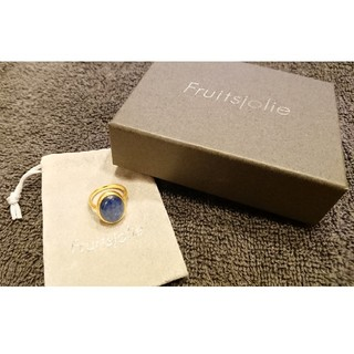 アッシュペーフランス(H.P.FRANCE)のfruitsjolie フリュイジョリ カイヤナイト リング 指輪11号(リング(指輪))