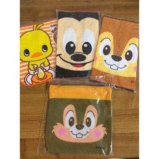 ディズニー(Disney)のミニタオル3枚+ミニ巾着1枚 セット(タオル)