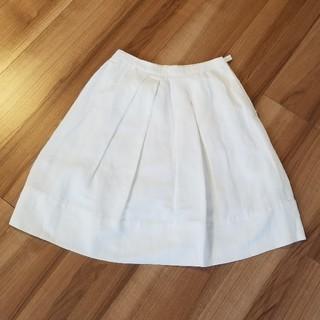 アルマーニ コレツィオーニ(ARMANI COLLEZIONI)の【美品】アルマーニ☆白フレアスカート(ひざ丈スカート)