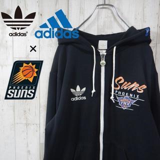 アディダス(adidas)のアディダス フェニックス・サンズ ワンポイントロゴ パーカー ブラック M(パーカー)