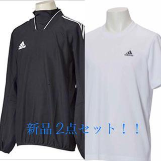 アディダス(adidas)の【新品】アディダス ウィンドブレーカー とTシャツ (ナイロンジャケット)