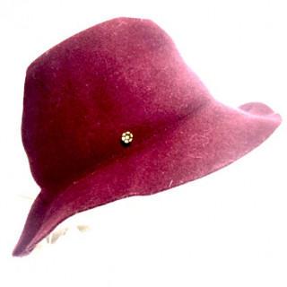 新品 ビューランス ハット ボルドー ウール100%(ハンチング/ベレー帽)