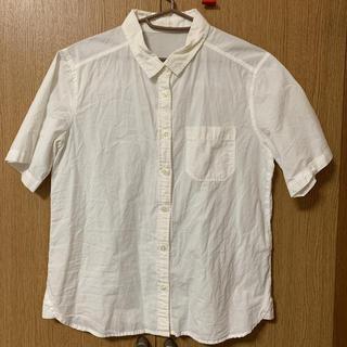 ジーユー(GU)の白シャツ コットン 半袖(シャツ/ブラウス(長袖/七分))