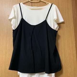 ジーユー(GU)のキャミソール Tシャツ セット (Tシャツ(半袖/袖なし))