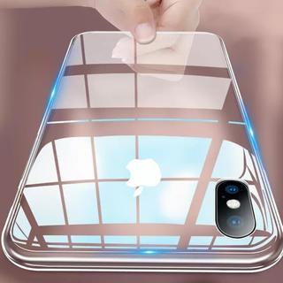 クリスタルクリア iPhoneケース 強化ガラスセット iPhone XsMAX
