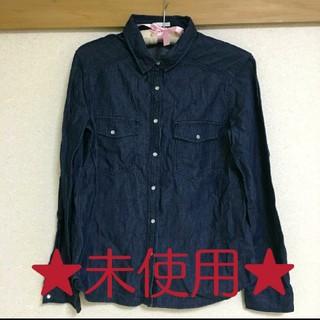 ジーユー(GU)の未使用☆GU デニムシャツ(シャツ/ブラウス(長袖/七分))