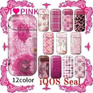 とにかく可愛いピンク色系柄☆アイコス シール iCOS ケース用 ステッカー(その他)
