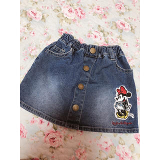 ディズニー(Disney)のミニーちゃん  刺繍入り🎀デニムスカート(スカート)
