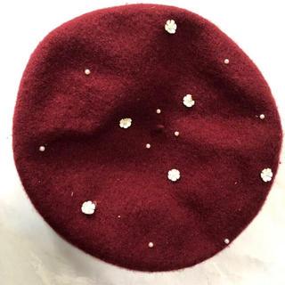 ベレー帽 赤色(ハンチング/ベレー帽)
