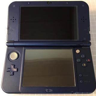 ニンテンドー3DS(ニンテンドー3DS)の【美品】Newニンテンドー3DS LL メタリックブルー 純正ACアダプタ付(携帯用ゲーム本体)