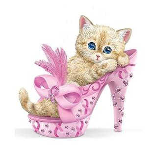 pinkヒールと可愛い子猫(A4額縁付きフルセット) ダイヤモンドアート(その他)