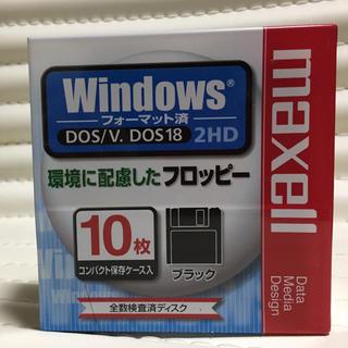 マクセル(maxell)の☆新品☆maxell 3.5型フロッピー.10枚 MFHD18.D10P(PC周辺機器)