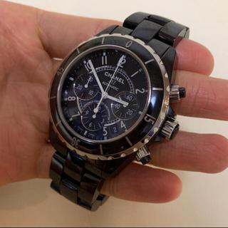シャネル(CHANEL)のシャネル J12 クロノグラフメンズ 超美品(腕時計(アナログ))