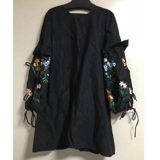 ZARA - ザラ 刺繍 ワンピース