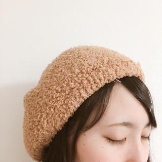 フワフワのベレー帽(ハンチング/ベレー帽)