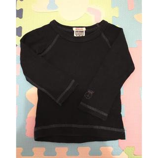 エフオーキッズ(F.O.KIDS)のロンT 黒無地 80 (Tシャツ)