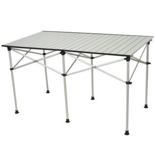 アルミロールテーブル 123×70cm 折りたたみ 高さ調節 ALRT-001(テーブル/チェア)