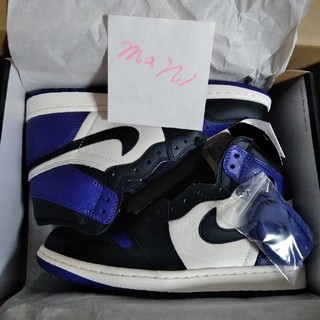 ナイキ(NIKE)のair jordan 1 court purple US8(スニーカー)