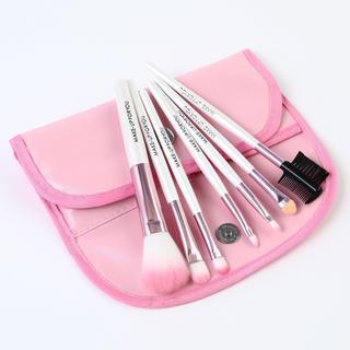 ピンクメイクブラシ7本セット makeup-29-PK(コフレ/メイクアップセット)