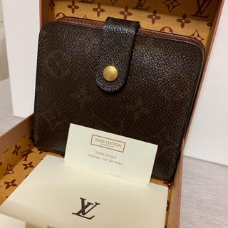 ルイヴィトン(LOUIS VUITTON)の美品 ルイヴィトン モノグラム コンパクトジップ 折財布 M61667(折り財布)