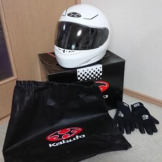 オージーケー(OGK)のOGK KABUTO(オージーケーカブト)ヘルメット FF-R3 パールホワイト(ヘルメット/シールド)