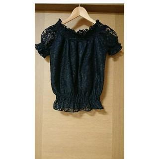 アベイル(Avail)のアベイル トップス 濃紺 Sサイズ(カットソー(半袖/袖なし))