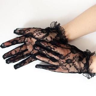新品◆レースのショート手袋④
