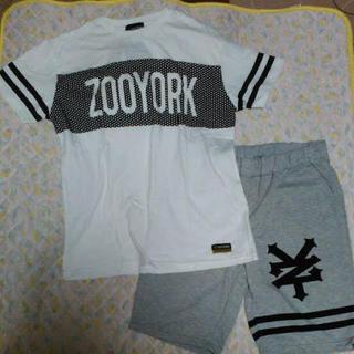 ズーヨーク(ZOO YORK)のしまむら ズーヨーク スウェット セットアップ Tシャツ 上下セット LLサイズ(ショートパンツ)