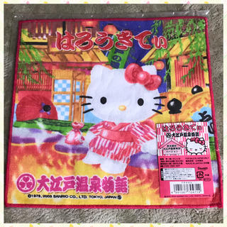 HELLO KITTY ご当地プチタオル 東京限定 大江戸温泉物語バージョン