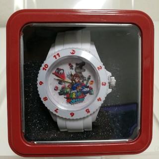 タイトー(TAITO)のスーパーマリオ オデッセイ シリコンウォッチ 白(腕時計(アナログ))