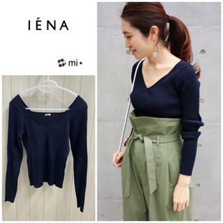 IENA - 超美品❣️ IENA lingerie design プルオーバー ネイビー