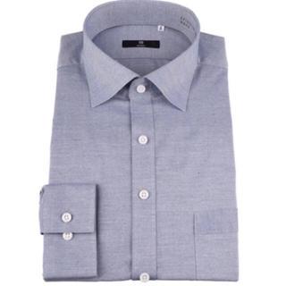 スーツセレクトワイドドレスシャツ ネイビー(シャツ)