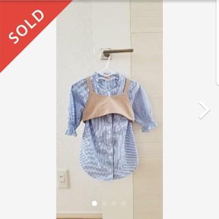 プティマイン(petit main)のプティマイン petitmain ビスチェセットトップス ワンピース(Tシャツ/カットソー)