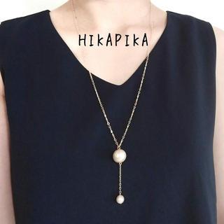 コットンパールと揺れるミニパール かぶりネックレス(ネックレス)