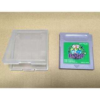 ニンテンドウ(任天堂)のGB ゲームボーイ ポケットモンスター グリーン 緑(携帯用ゲームソフト)