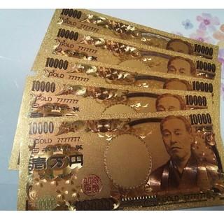 金運アップ❀GOLD7777777金箔一万円札 5枚(長財布)