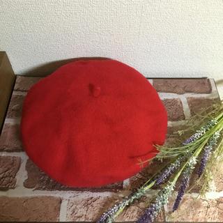 リベットアンドサージ(rivet & surge)のrivet&surge 未開封 赤 ベレー帽 タグ付き(ハンチング/ベレー帽)