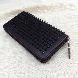 スタッズ 長財布 ブラック×レッド(長財布)