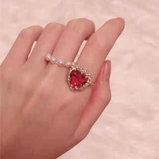 スナイデル(snidel)の【再販】heart bijou ring ♡(リング)
