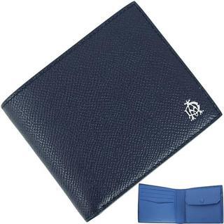 ダンヒル(Dunhill)の【新品】 ダンヒル 小銭入れ付二つ折り財布 ネイビー(折り財布)
