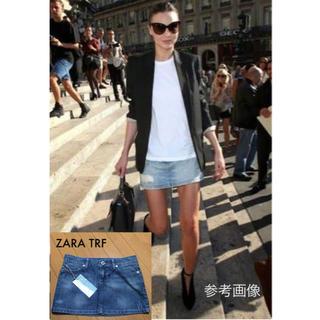 ザラ(ZARA)の新品タグ付 ZARA TRF デニムミニスカート ライトブルー38 ¥6,195(ミニスカート)