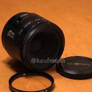 コニカミノルタ(KONICA MINOLTA)のミノルタ αマウントAF50mm macro F2.8 整備撮影確認済み(レンズ(単焦点))