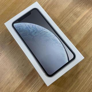 アップル(Apple)のsimフリー   iphoneXR   ホワイト 128GB 新品(スマートフォン本体)