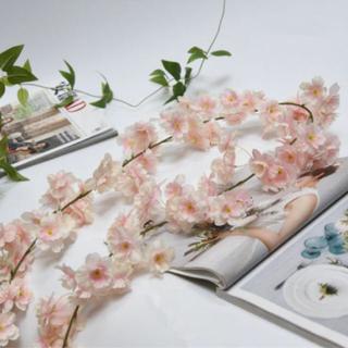 桜薄ピンク 造花 180㎝×5本 フラワーカーテン(その他)