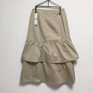ジーユー(GU)の即購入OK!新品タグ付 レディース  GU ティアードミディ スカート(ロングスカート)