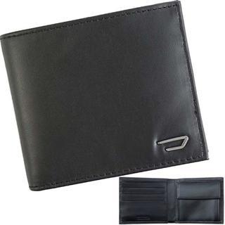 ディーゼル(DIESEL)の【新品】 ディーゼル 二つ折り財布 メタルロゴ レザー ブラック(折り財布)